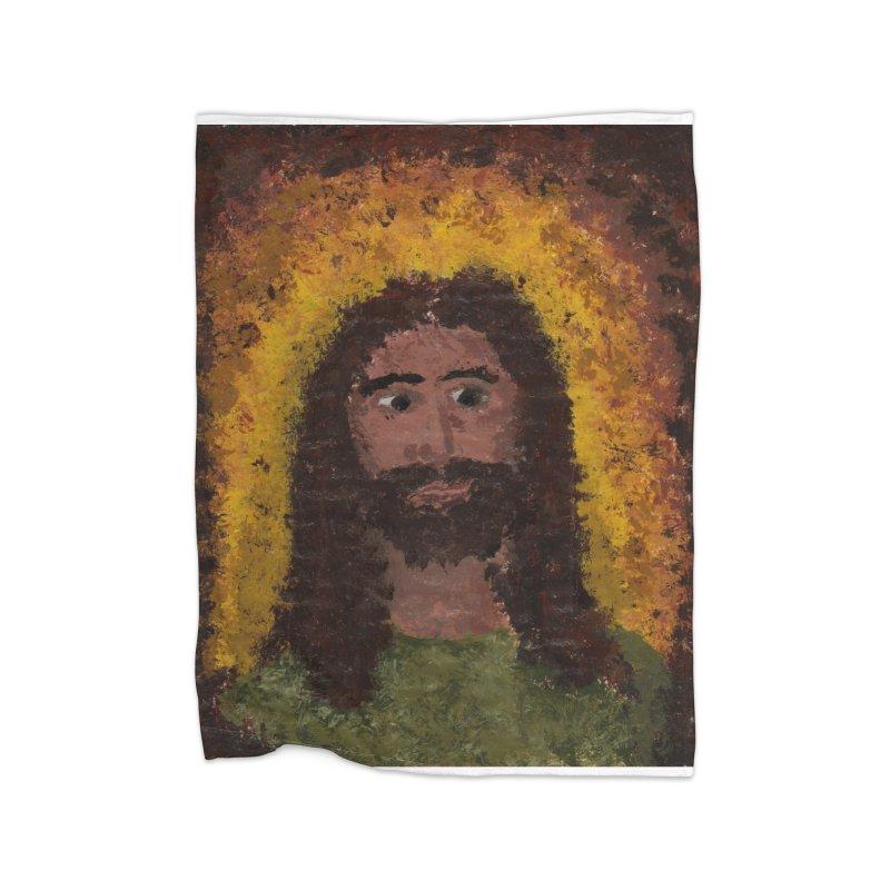 Jesus Home Blanket by Mary Kloska Fiat's Artist Shop