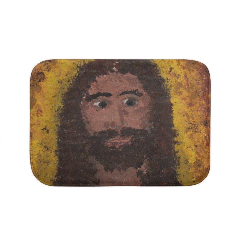 Jesus Home Bath Mat by Mary Kloska Fiat's Artist Shop