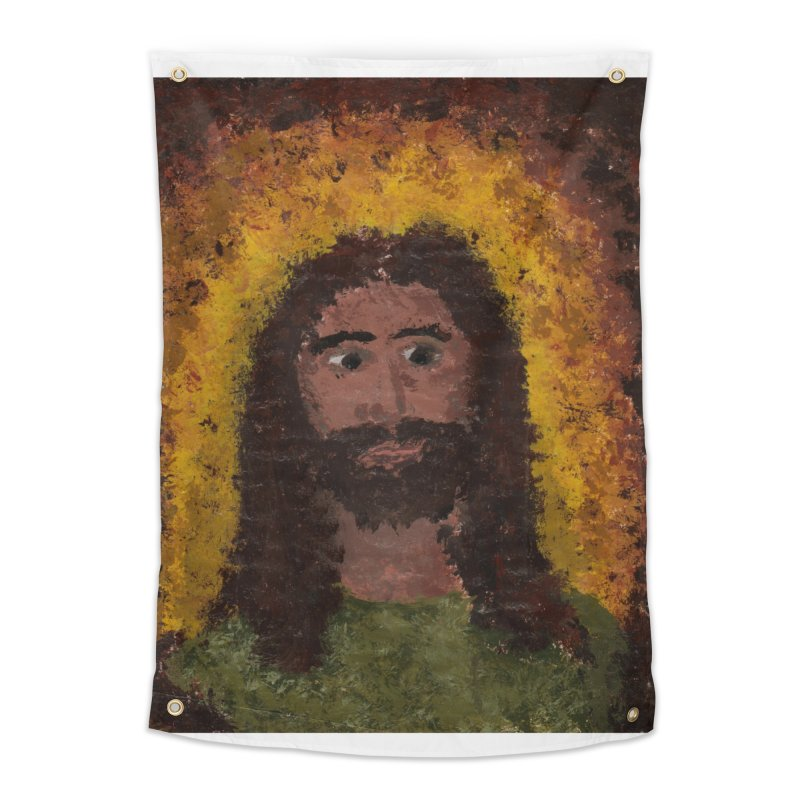 Jesus Home Tapestry by Mary Kloska Fiat's Artist Shop