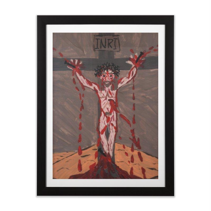 Desert Jesus Crucified Home Framed Fine Art Print by Mary Kloska Fiat's Artist Shop