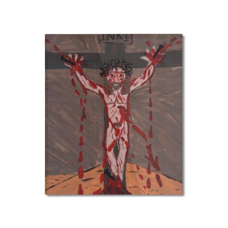 Desert Jesus Crucified Home Mounted Aluminum Print by Mary Kloska Fiat's Artist Shop