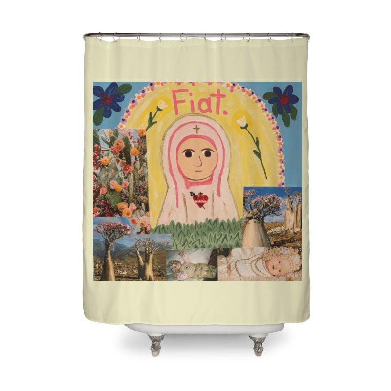 Maria Bambina -the Infant Mary Home Shower Curtain by Mary Kloska Fiat's Artist Shop