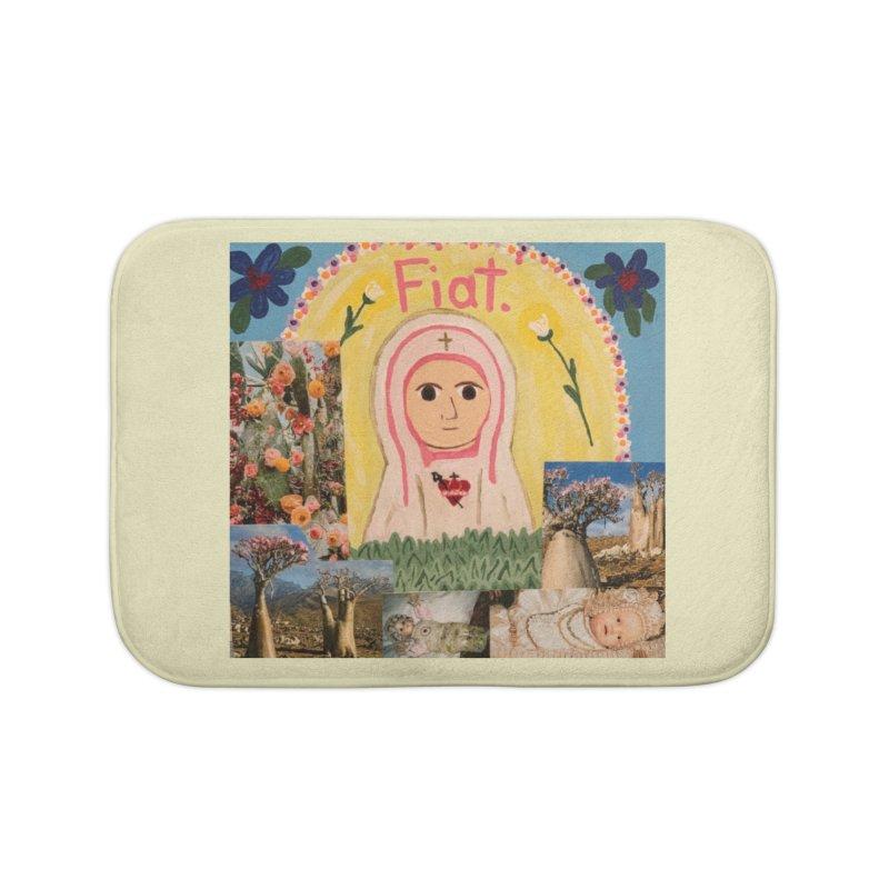 Maria Bambina -the Infant Mary Home Bath Mat by Mary Kloska Fiat's Artist Shop