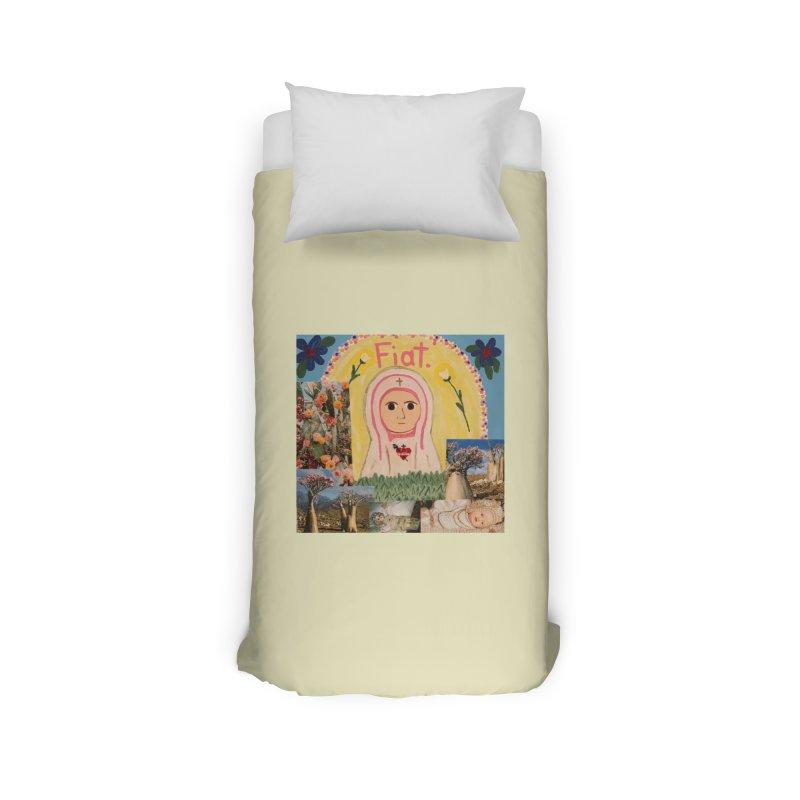 Maria Bambina -the Infant Mary Home Duvet by Mary Kloska Fiat's Artist Shop