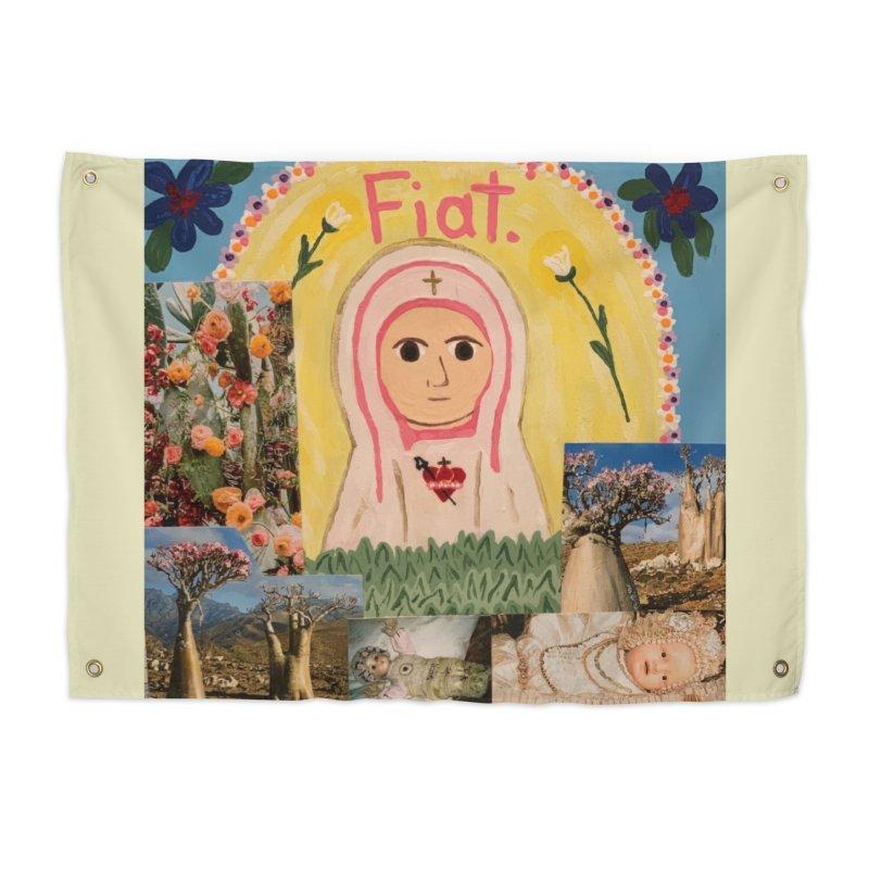 Maria Bambina -the Infant Mary Home Tapestry by Mary Kloska Fiat's Artist Shop