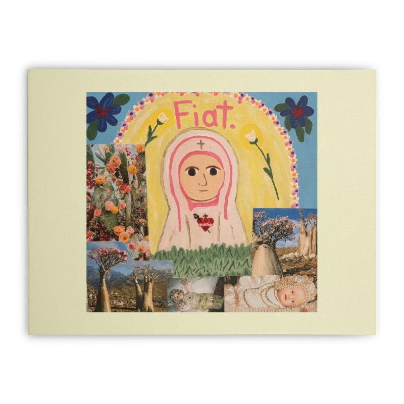 Maria Bambina -the Infant Mary Home Stretched Canvas by Mary Kloska Fiat's Artist Shop