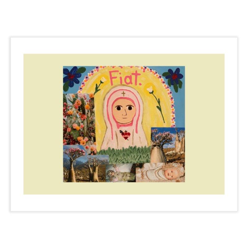 Maria Bambina -the Infant Mary Home Fine Art Print by Mary Kloska Fiat's Artist Shop