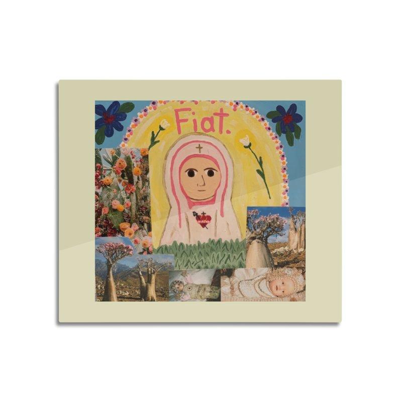 Maria Bambina -the Infant Mary Home Mounted Aluminum Print by Mary Kloska Fiat's Artist Shop