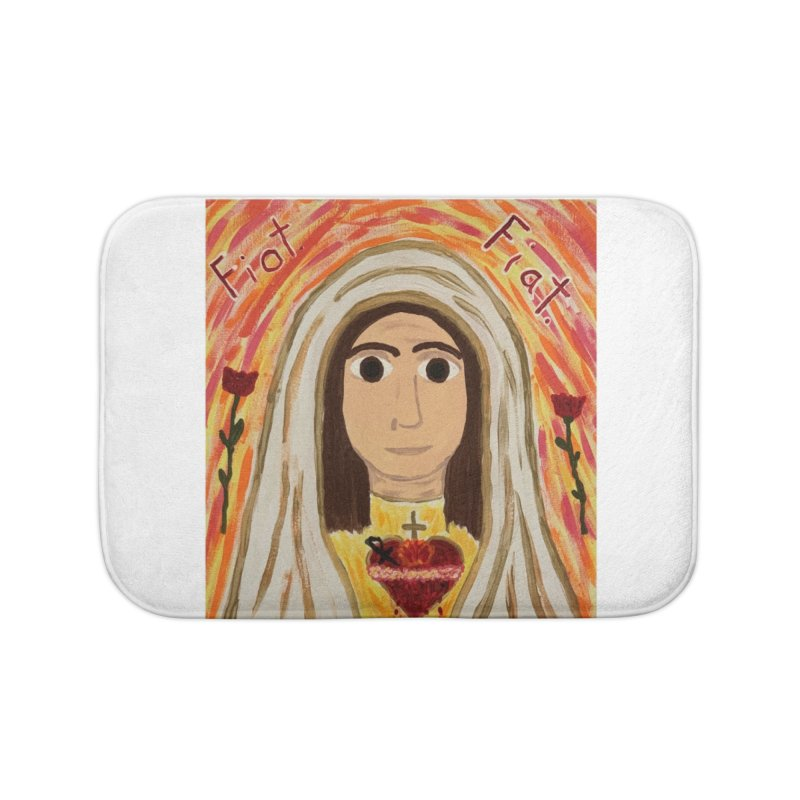 Immaculate Heart of Mary Home Bath Mat by Mary Kloska Fiat's Artist Shop