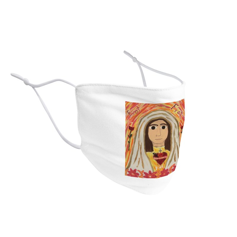 Immaculate Heart of Mary Accessories Face Mask by Mary Kloska Fiat's Artist Shop