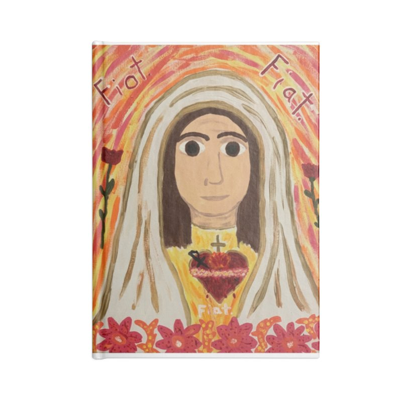 Immaculate Heart of Mary Accessories Notebook by Mary Kloska Fiat's Artist Shop