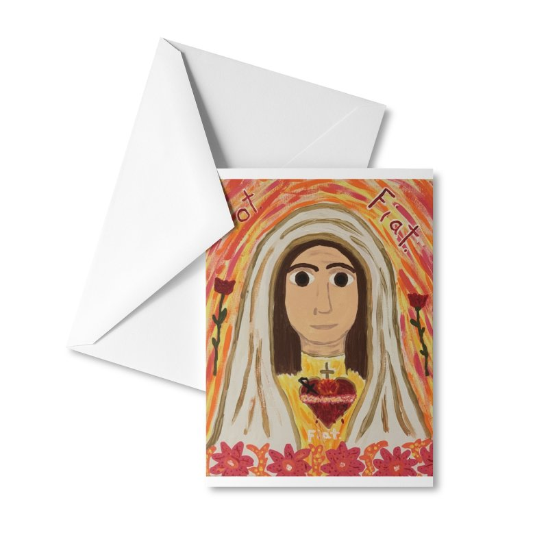 Immaculate Heart of Mary Accessories Greeting Card by Mary Kloska Fiat's Artist Shop