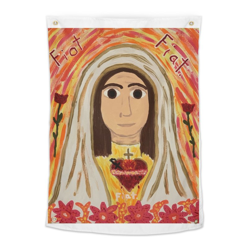 Immaculate Heart of Mary Home Tapestry by Mary Kloska Fiat's Artist Shop