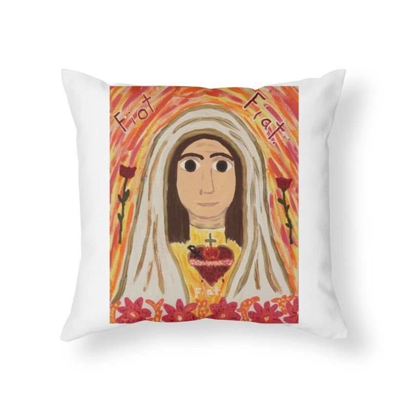 Immaculate Heart of Mary Home Throw Pillow by Mary Kloska Fiat's Artist Shop