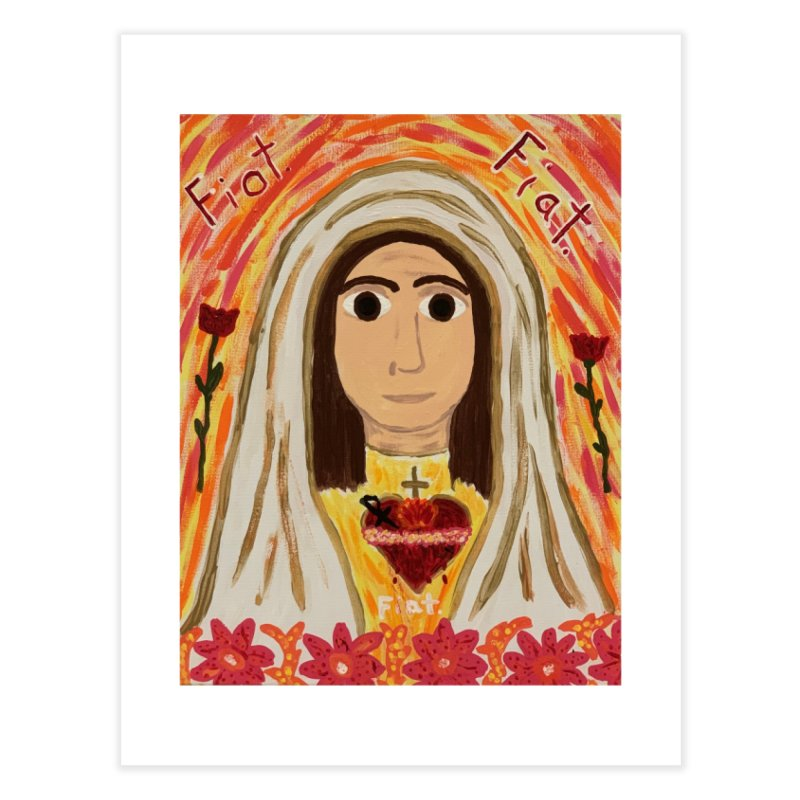Immaculate Heart of Mary Home Fine Art Print by Mary Kloska Fiat's Artist Shop