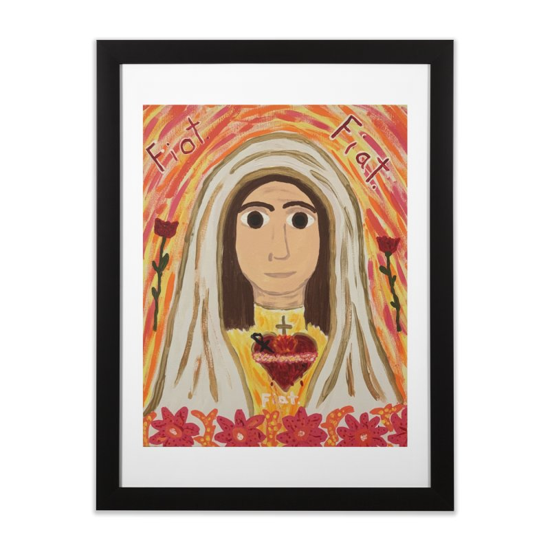 Immaculate Heart of Mary Home Framed Fine Art Print by Mary Kloska Fiat's Artist Shop