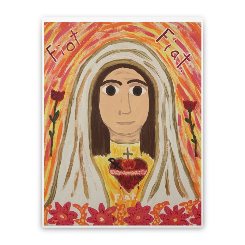 Immaculate Heart of Mary Home Stretched Canvas by Mary Kloska Fiat's Artist Shop