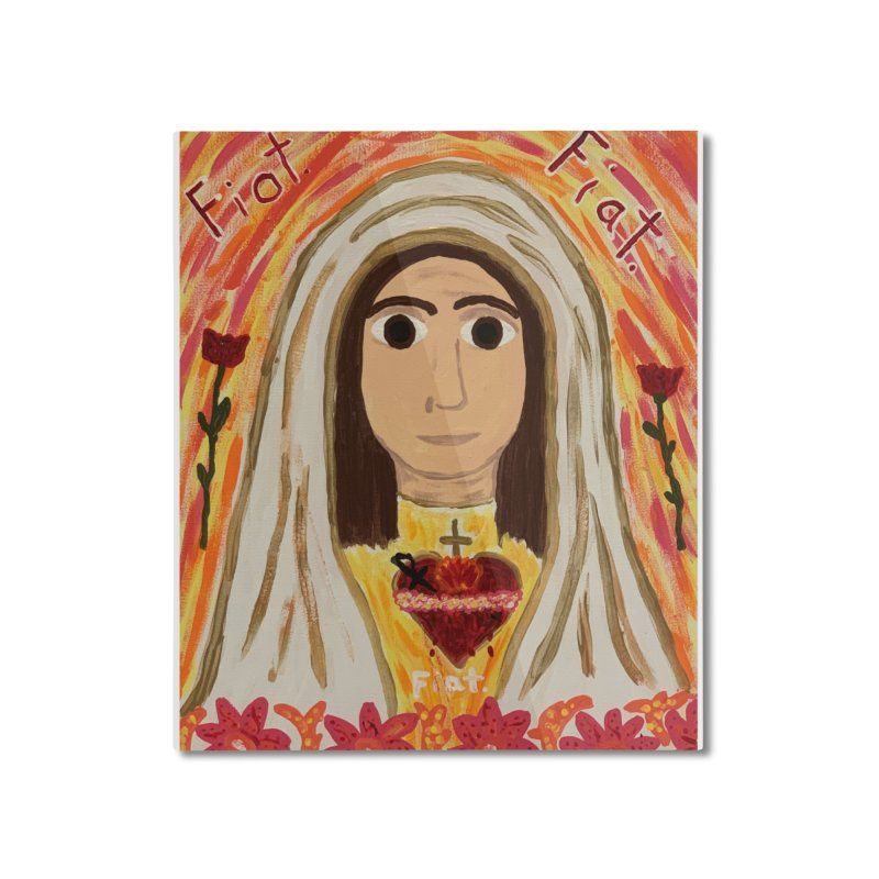 Immaculate Heart of Mary Home Mounted Aluminum Print by Mary Kloska Fiat's Artist Shop