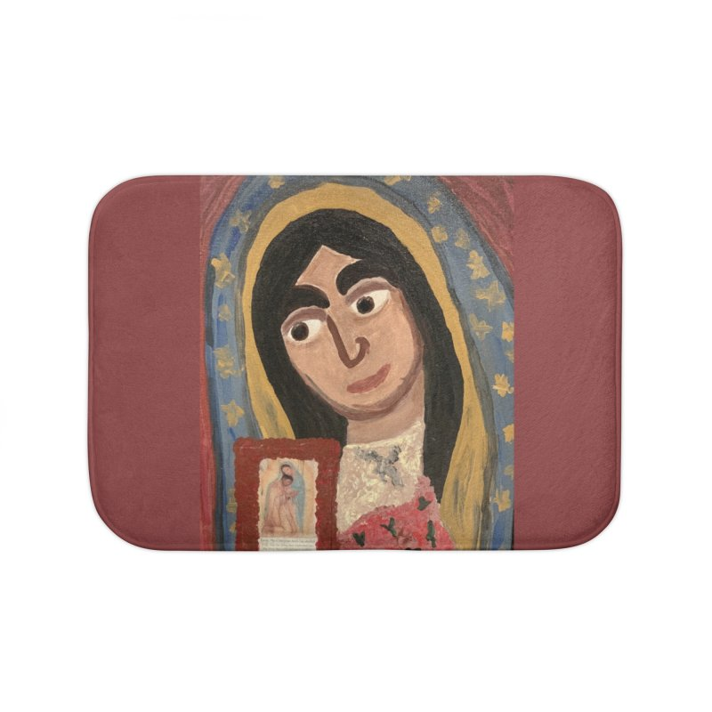 Our Lady of Guadalupe Home Bath Mat by Mary Kloska Fiat's Artist Shop