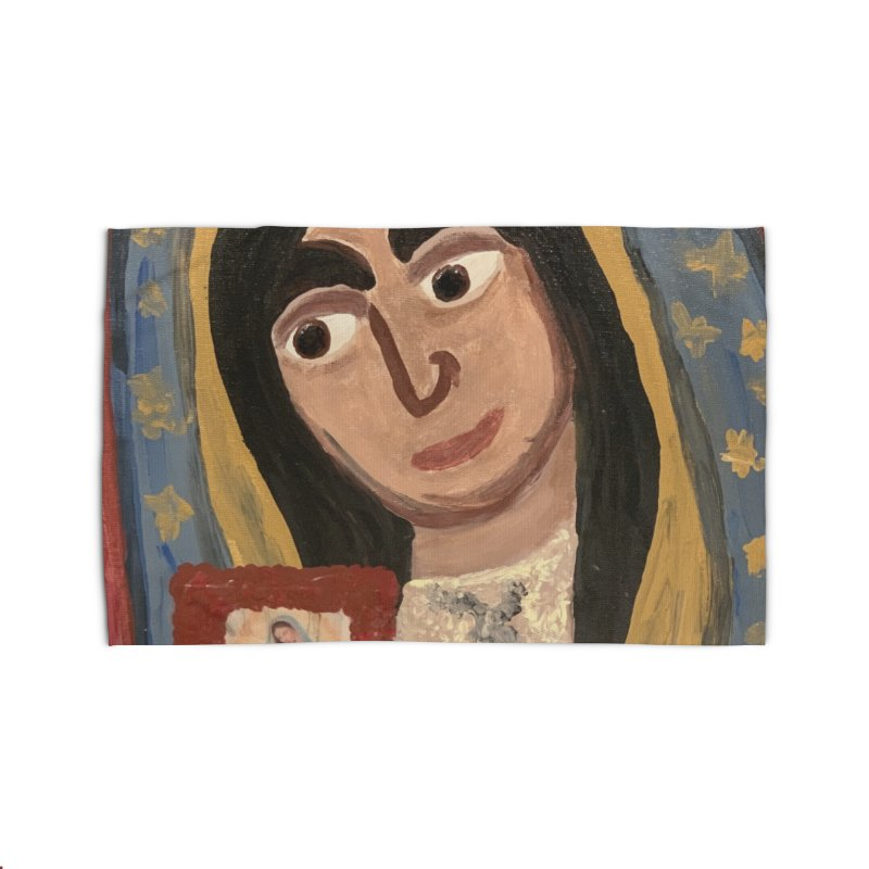 Our Lady of Guadalupe Home Rug by Mary Kloska Fiat's Artist Shop