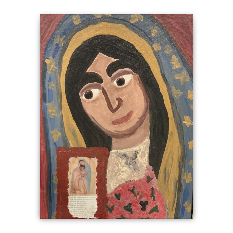 Our Lady of Guadalupe Home Stretched Canvas by Mary Kloska Fiat's Artist Shop