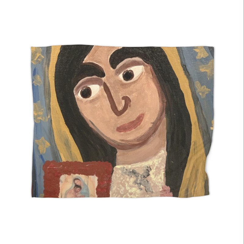 Our Lady of Guadalupe Home Blanket by Mary Kloska Fiat's Artist Shop