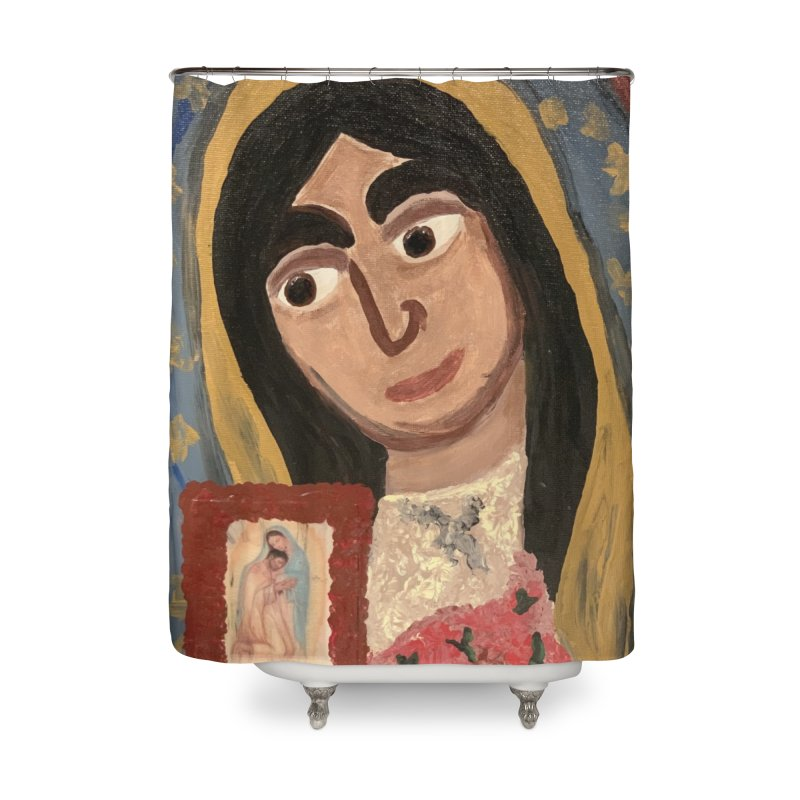 Our Lady of Guadalupe Home Shower Curtain by Mary Kloska Fiat's Artist Shop