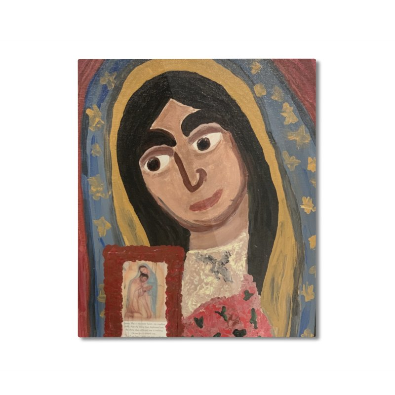 Our Lady of Guadalupe Home Mounted Aluminum Print by Mary Kloska Fiat's Artist Shop
