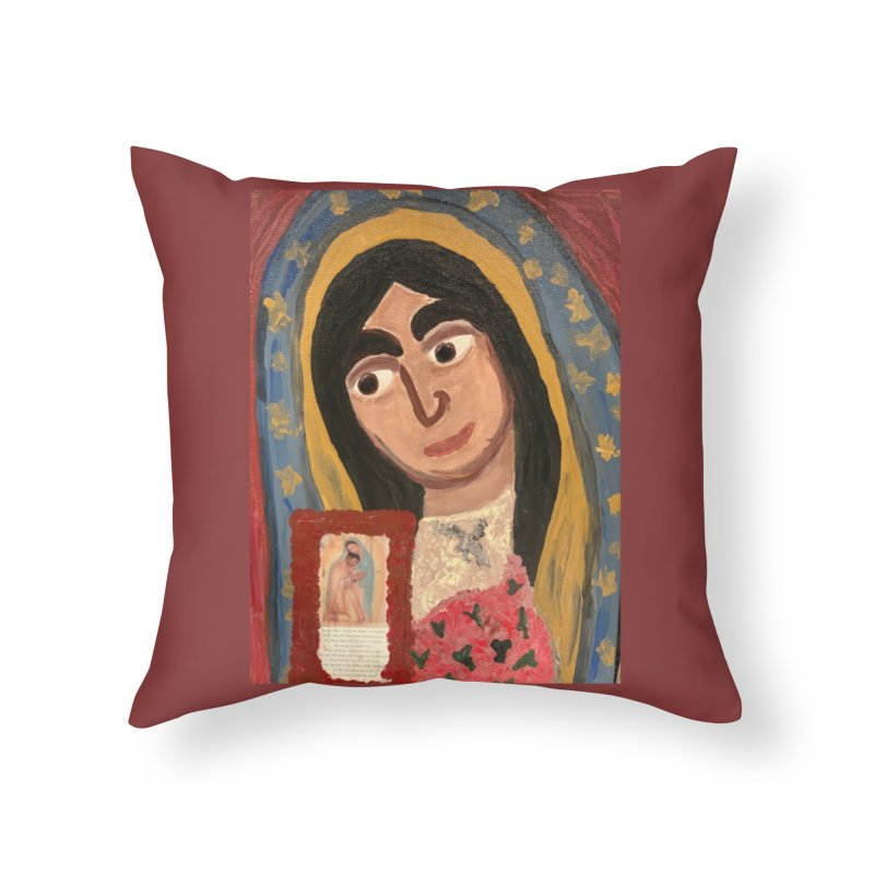 Our Lady of Guadalupe Home Throw Pillow by Mary Kloska Fiat's Artist Shop