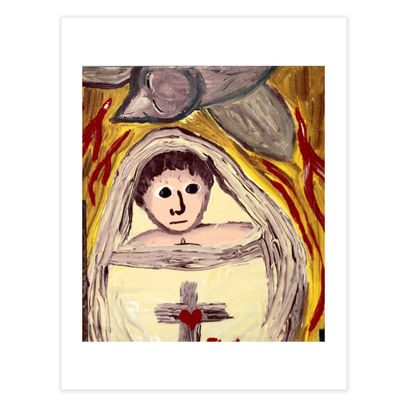 Baby Jesus and the Holy Spirit -Our Eucharistic Child Home Fine Art Print by Mary Kloska Fiat's Artist Shop