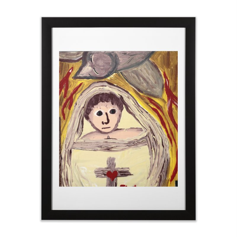 Baby Jesus and the Holy Spirit -Our Eucharistic Child Home Framed Fine Art Print by Mary Kloska Fiat's Artist Shop