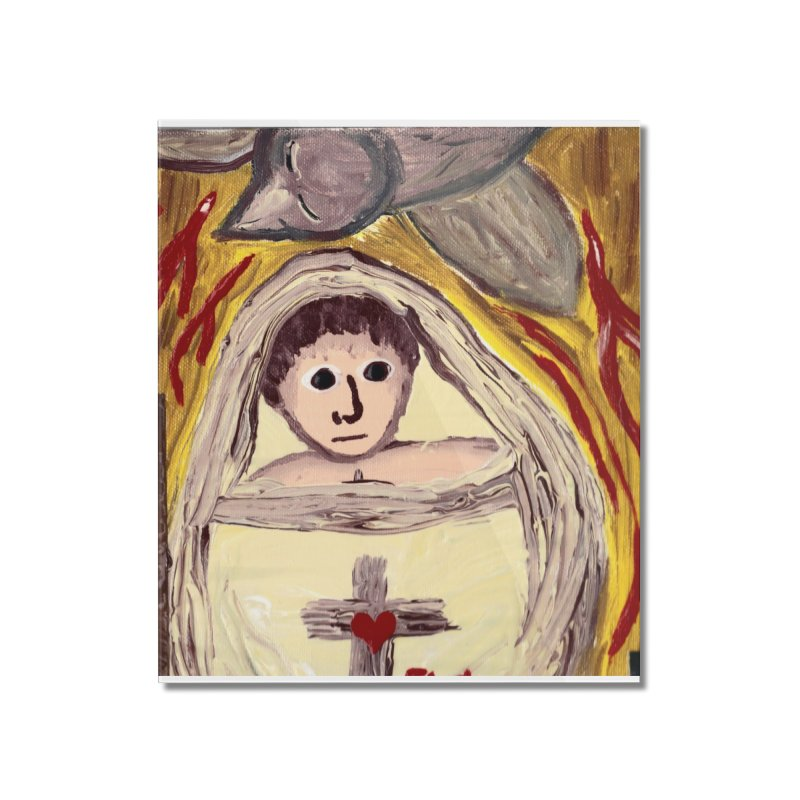 Baby Jesus and the Holy Spirit -Our Eucharistic Child Home Mounted Acrylic Print by Mary Kloska Fiat's Artist Shop