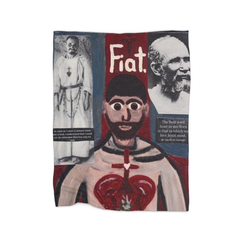 St. Charles de Foucauld Home Blanket by Mary Kloska Fiat's Artist Shop
