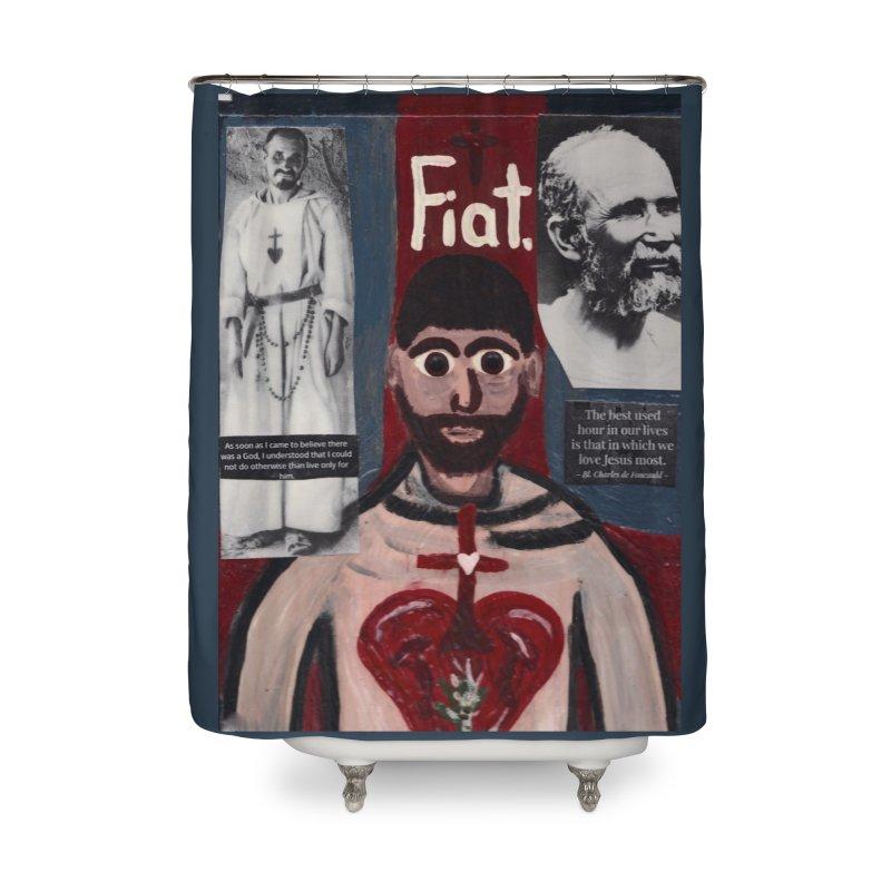 St. Charles de Foucauld Home Shower Curtain by Mary Kloska Fiat's Artist Shop
