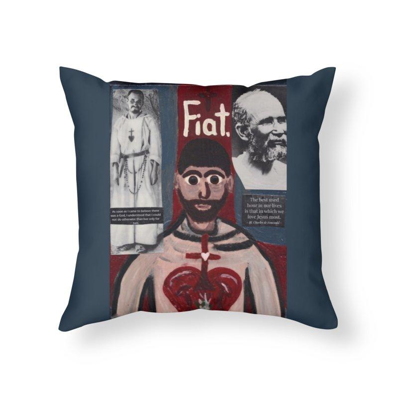 St. Charles de Foucauld Home Throw Pillow by Mary Kloska Fiat's Artist Shop