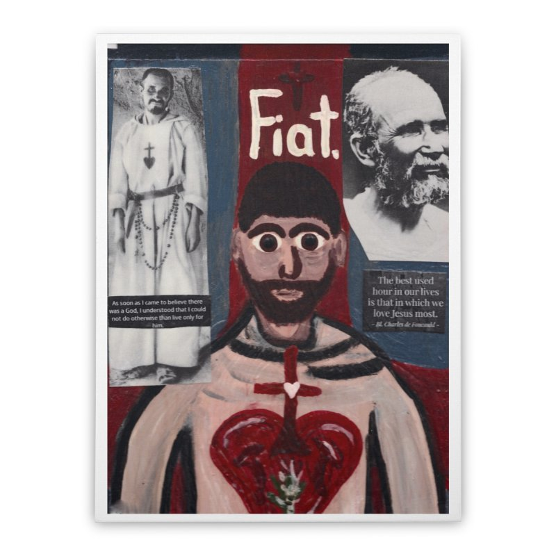 St. Charles de Foucauld Home Stretched Canvas by Mary Kloska Fiat's Artist Shop