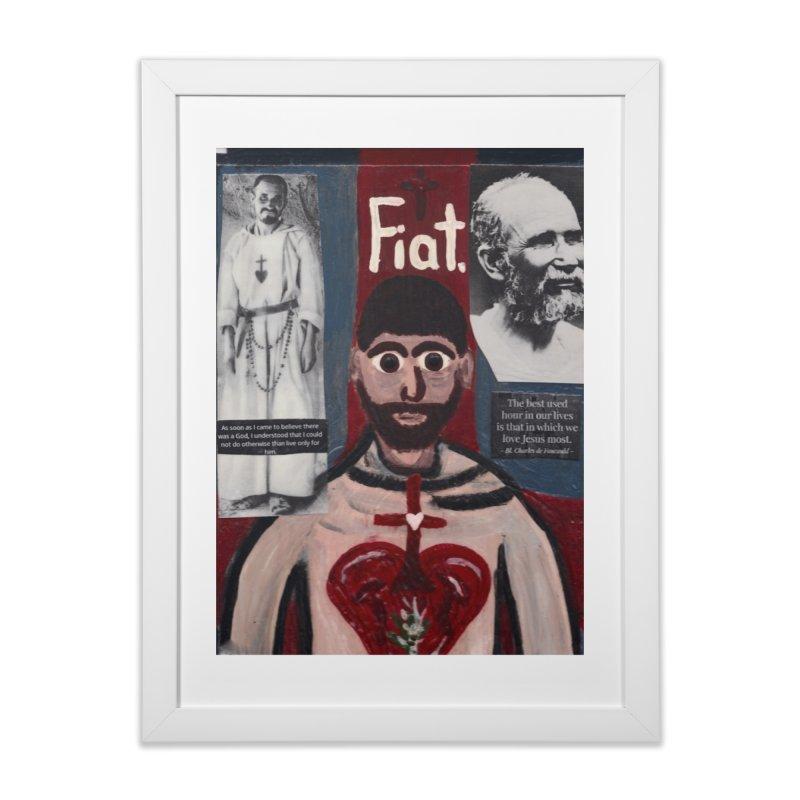 St. Charles de Foucauld Home Framed Fine Art Print by Mary Kloska Fiat's Artist Shop