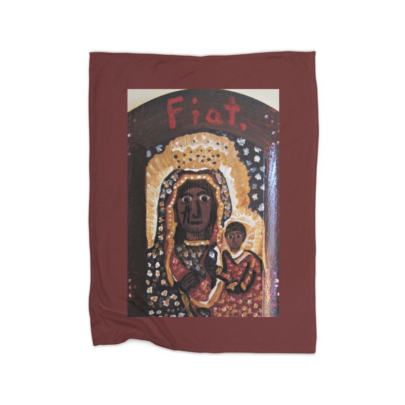 Our Lady of Czestohowa Home Blanket by Mary Kloska Fiat's Artist Shop