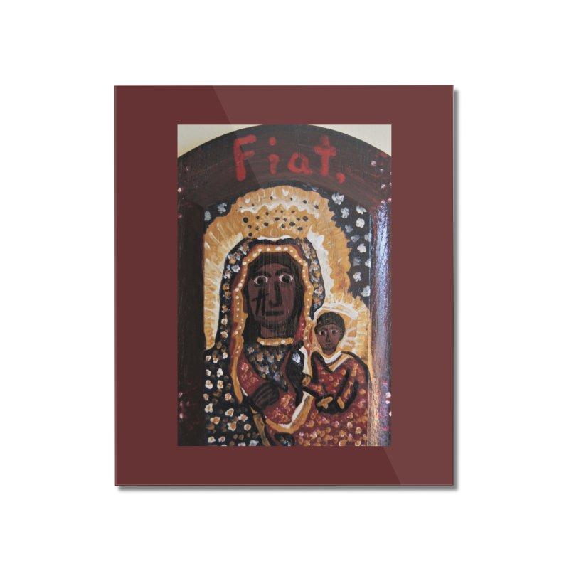 Our Lady of Czestohowa Home Mounted Acrylic Print by Mary Kloska Fiat's Artist Shop