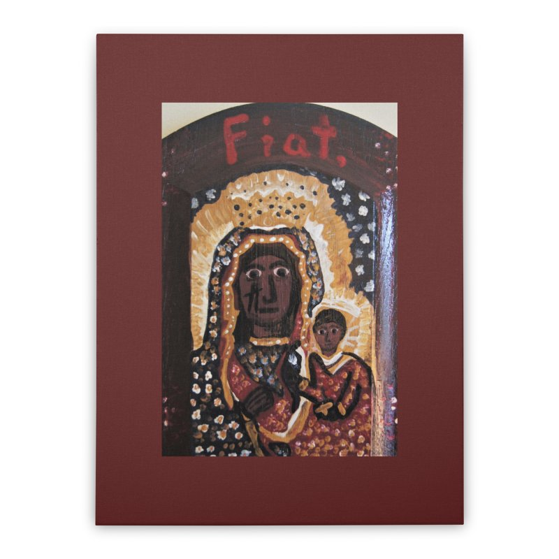 Our Lady of Czestohowa Home Stretched Canvas by Mary Kloska Fiat's Artist Shop