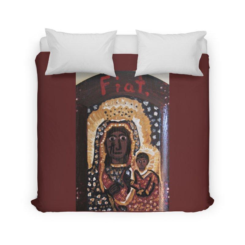 Our Lady of Czestohowa Home Duvet by Mary Kloska Fiat's Artist Shop