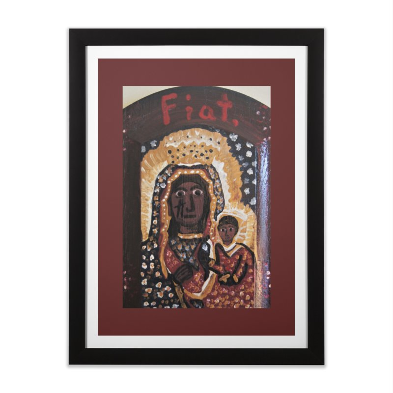 Our Lady of Czestohowa Home Framed Fine Art Print by Mary Kloska Fiat's Artist Shop