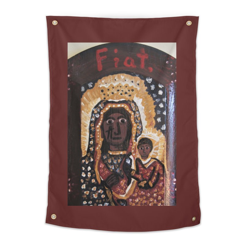 Our Lady of Czestohowa Home Tapestry by Mary Kloska Fiat's Artist Shop