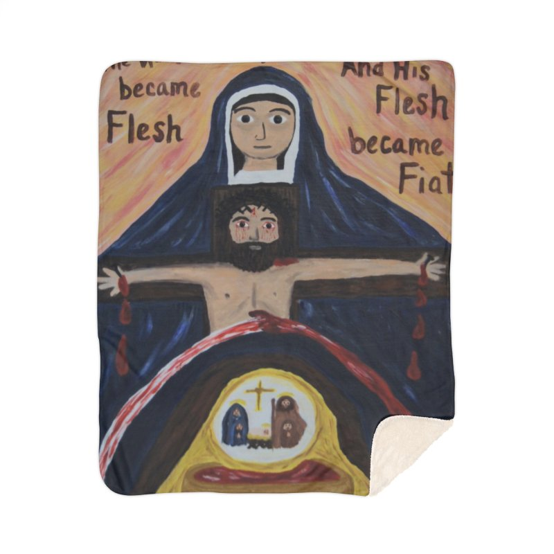 The Word Became Flesh Home Blanket by Mary Kloska Fiat's Artist Shop