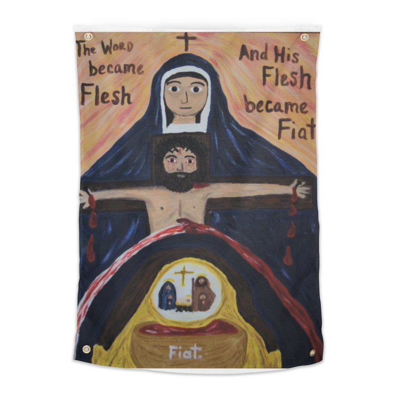 The Word Became Flesh Home Tapestry by Mary Kloska Fiat's Artist Shop