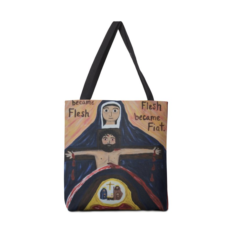 The Word Became Flesh Accessories Bag by Mary Kloska Fiat's Artist Shop