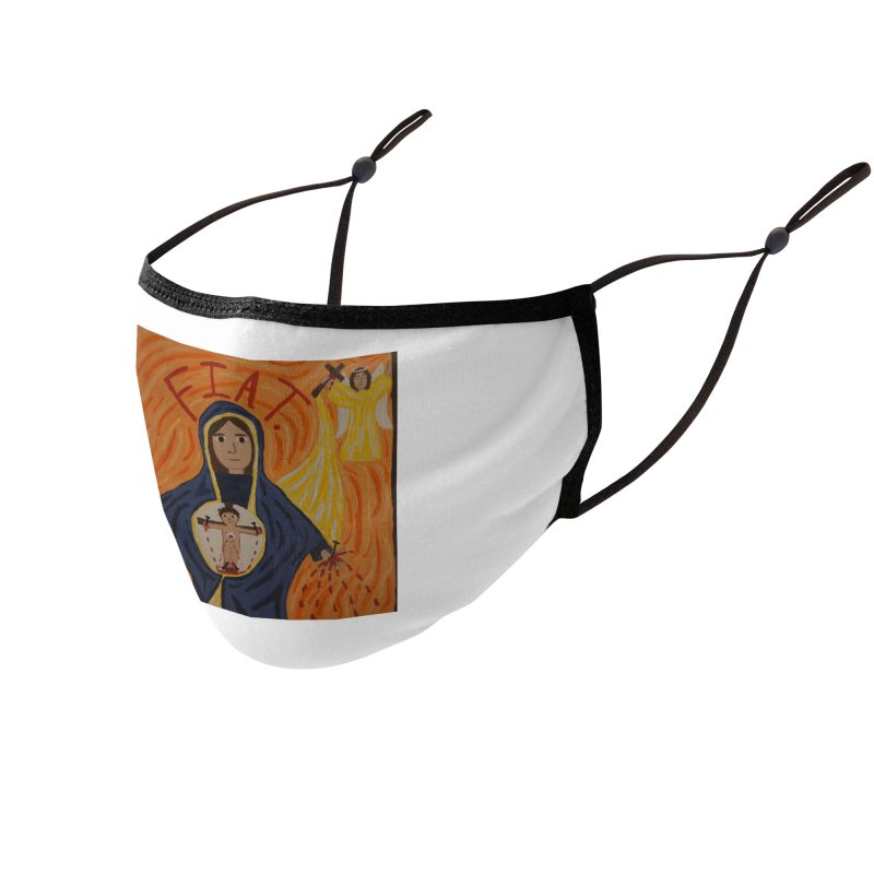 Annunciation Accessories Face Mask by Mary Kloska Fiat's Artist Shop