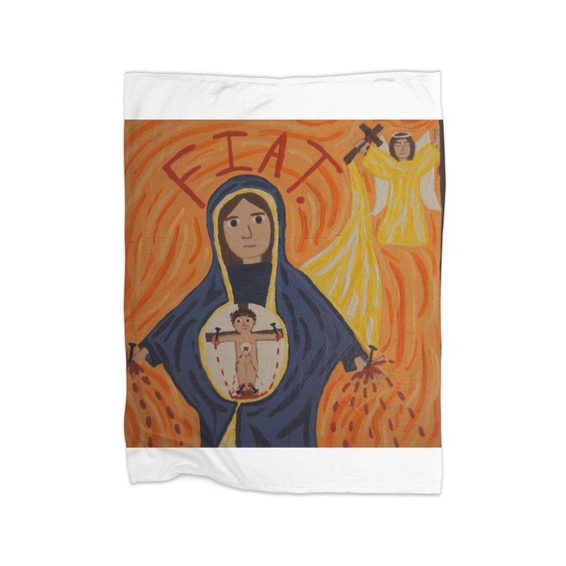 Annunciation Home Blanket by Mary Kloska Fiat's Artist Shop