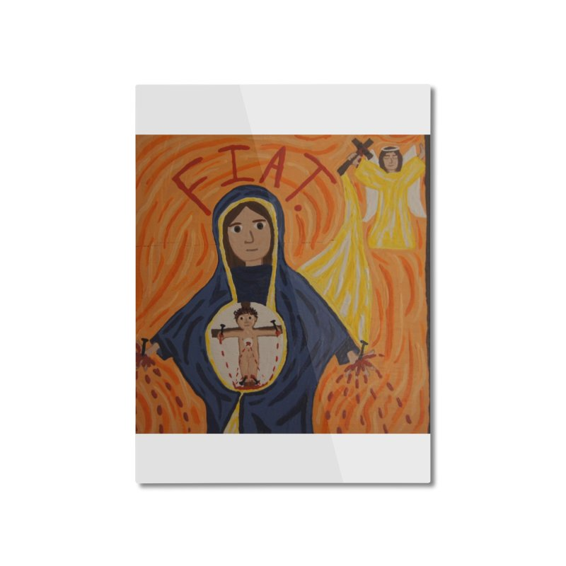 Annunciation Home Mounted Aluminum Print by Mary Kloska Fiat's Artist Shop