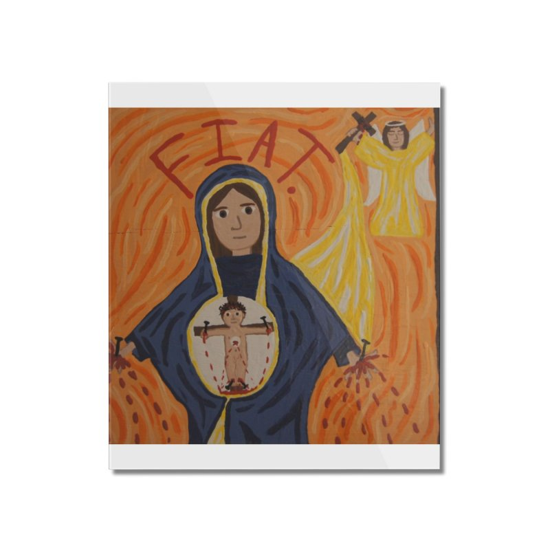 Annunciation Home Mounted Acrylic Print by Mary Kloska Fiat's Artist Shop